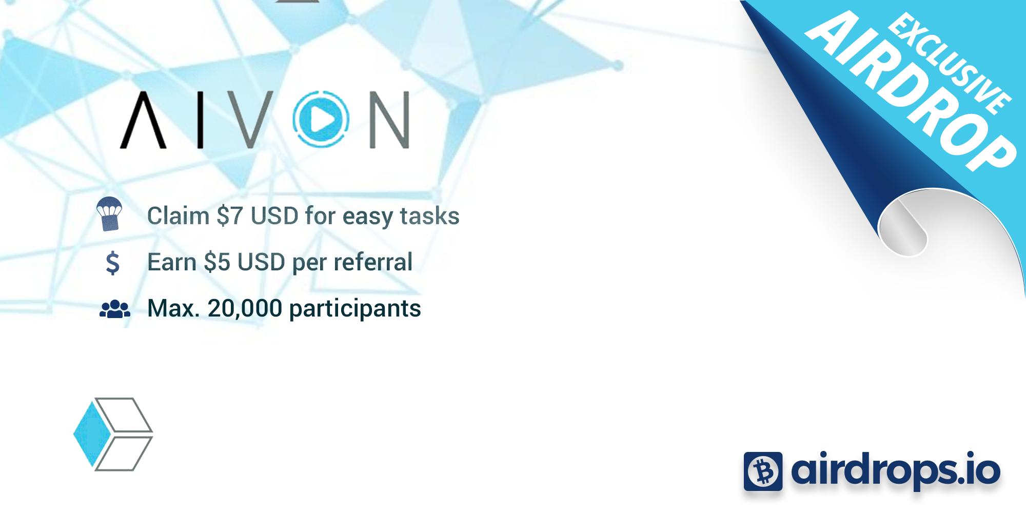 AIVON Airdrop » Claim 44 free AVO tokens (~ $7 + $5 per ref)