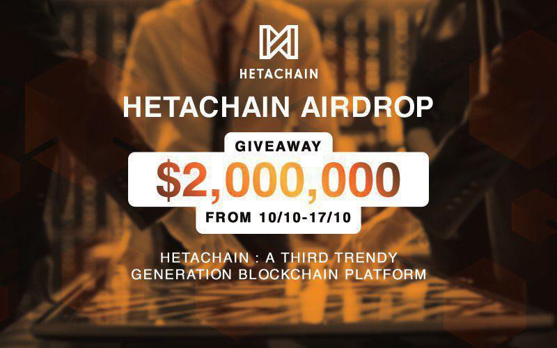 HetaChain Airdrop » Claim 1200 free HETA tokens (~ $20 + ref)