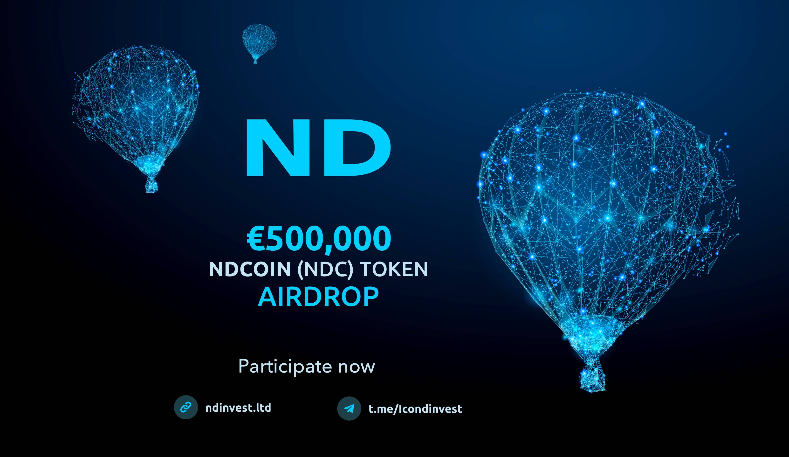ND Invest Airdrop » Claim 20 free NDC tokens (~ $23)