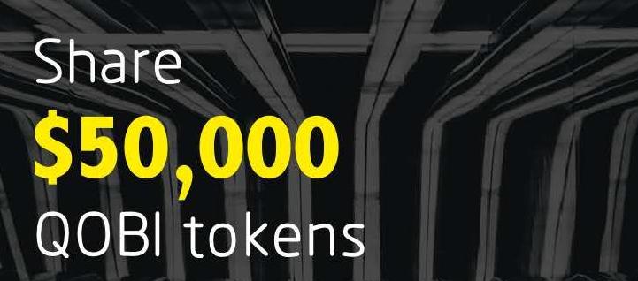 Qobit Airdrop » Claim free QOBI tokens (~ $5 + $1 ref)