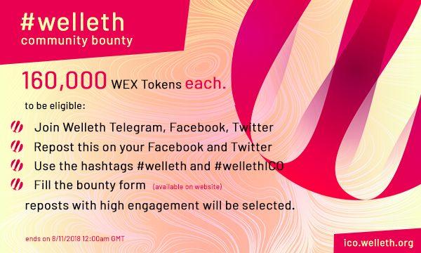 Welleth Airdrop » Claim 650,000 free WEX tokens (~ $15 + ref)